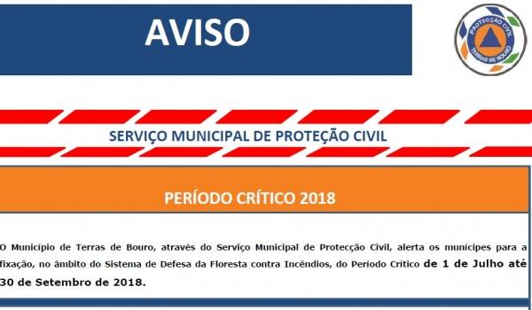 Aviso - Serviço Municipal de Proteção Civil