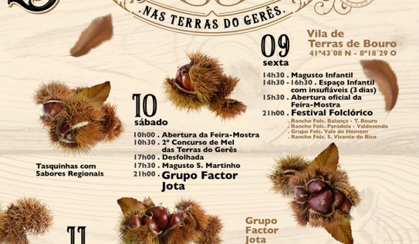 XVIII.ª edição da Feira Mostra de S. Martinho nas Terras do Gerês de 9 a 11 de novembro