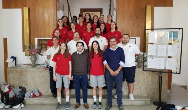 Selecção nacional feminina de basquetebol sub18 recebida na Câmara Municipal  de Terras de Bouro