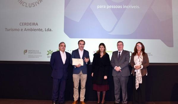 Parque Cerdeira ganha  Prémio Entidade Empregadora Inclusiva 2019