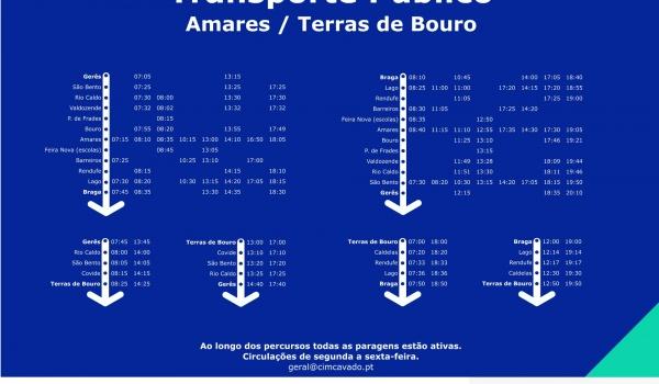 População de Terras de Bouro tem acesso a rede atualizada de transporte público de passageiros