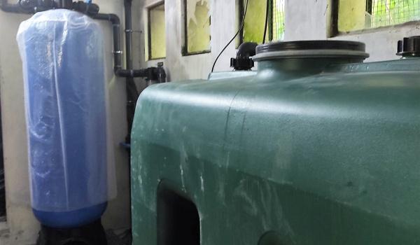 Instalação do sistema de filtragem na estação elevatória da Cachoeira